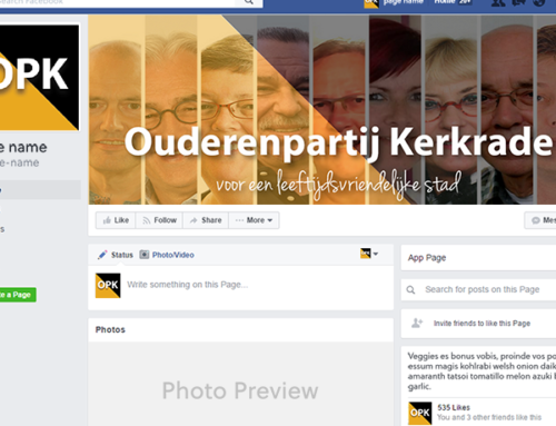 Facebookpagina omslagfoto: Ouderenpartij Kerkrade