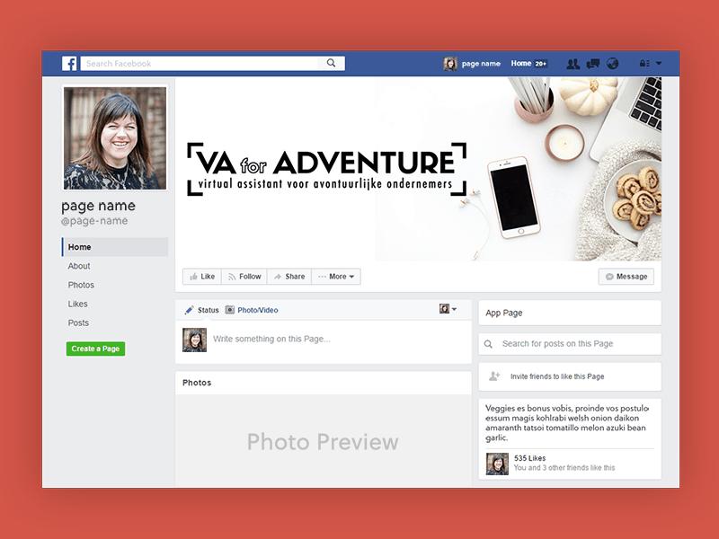 VA for Adventure Facebookpagina omslagfoto