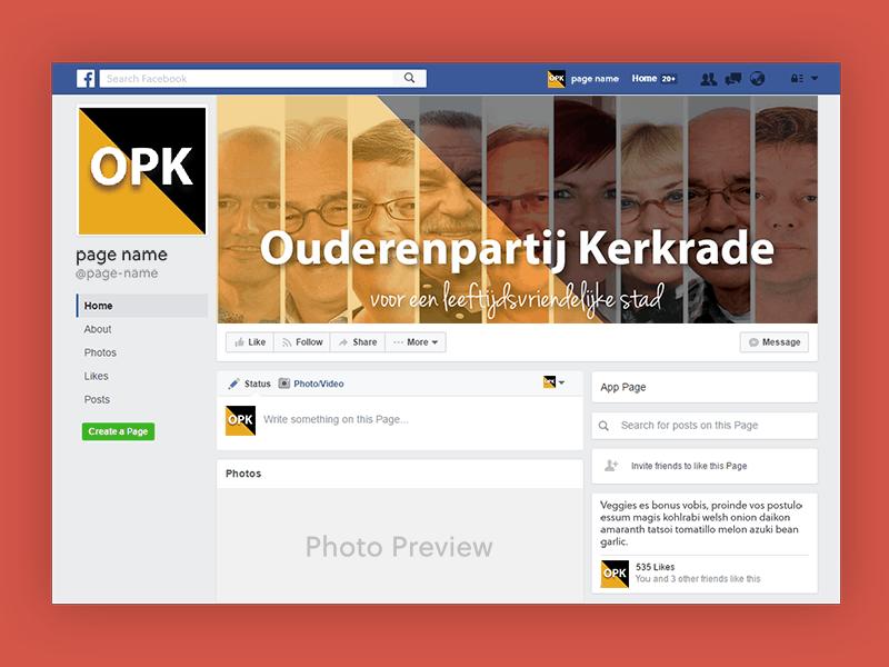 Portfolio VA for Adventure Facebook Page Ouderenpartij Kerkrade