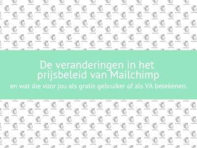 Mailchimp wijzigingen mei 2019