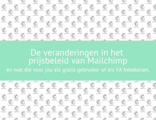 veranderingen prijsbeleid Mailchimp en consequenties voor jou als gratis gebruiker