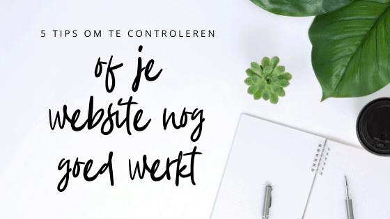 Voldoet mijn website nog?