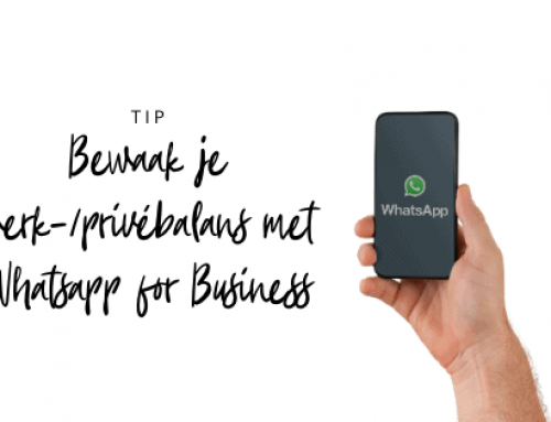 Bewaak je werk-/privébalans Whatsapp for Business